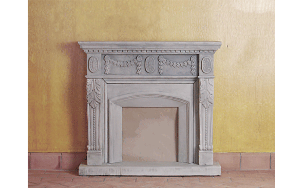 Acanto Mantel Cast Stone Fireplace Mantels Tuscan