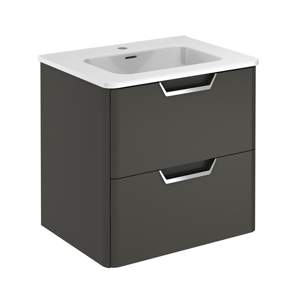 Eviva Hayat 24″ Modern Wallmount Bathroom Vanity with White Integrated Porcelain Sink Vanity Eviva Gray