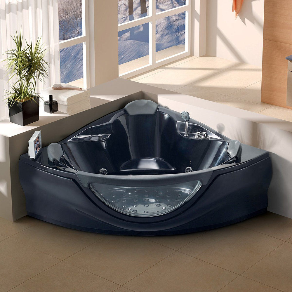 Maya Bath Venezia-Black Whirlpool Bath Tub Whirlpool Bathtub Maya Bath
