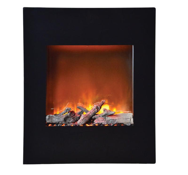 Amantii ZECL electric fireplace with blk surround, 11 pce. log set & 3 colors media