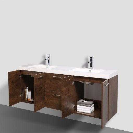 Eviva Luxury 84 inch bathroom vanity with integrated acrylic sinks Vanity Eviva