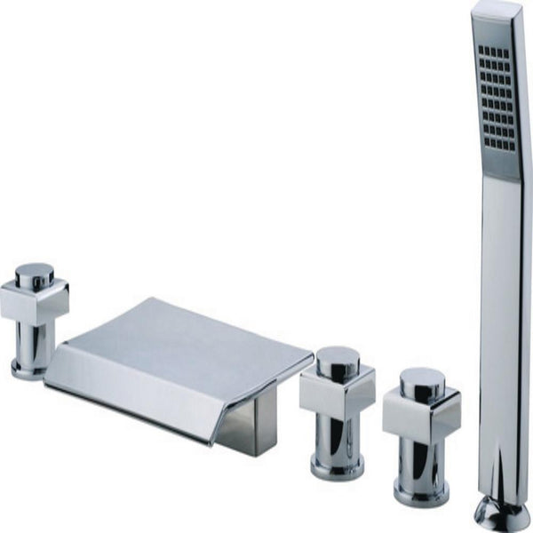 ANZZI Guaira 3-Handle Deck-Mount Roman Tub Faucet
