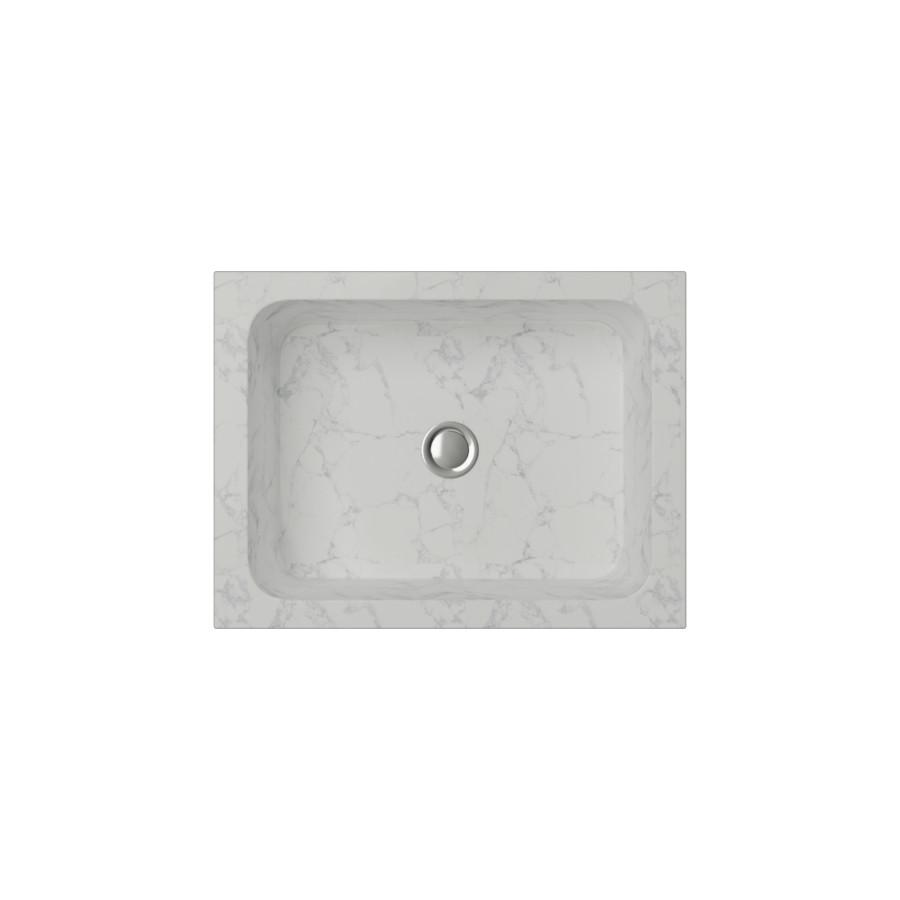 Cantrio Marble rectangle vessel sink Stone Series Cantrio