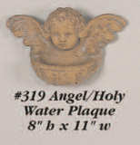 Angel Holy Water Plaque Cast Stone Outdoor Asian Collection