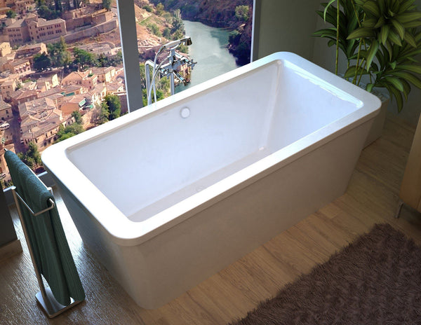 Atlantis Whirlpools Aquarius 34 x 67 Rectangular Freestanding Soaker Bathtub