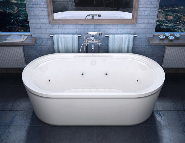 Atlantis Whirlpools Royale 34 x 67 Oval Freestanding Air & Whirlpool Water Jetted Bathtub