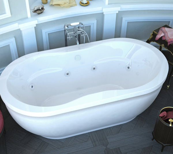 Atlantis Whirlpools 3471AW Embrace 34 x 71 Oval Freestanding Whirlpool Jetted Bathtub