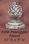 Pineapple Fineal Cast Stone Outdoor Asian Collection Accessories Tuscan