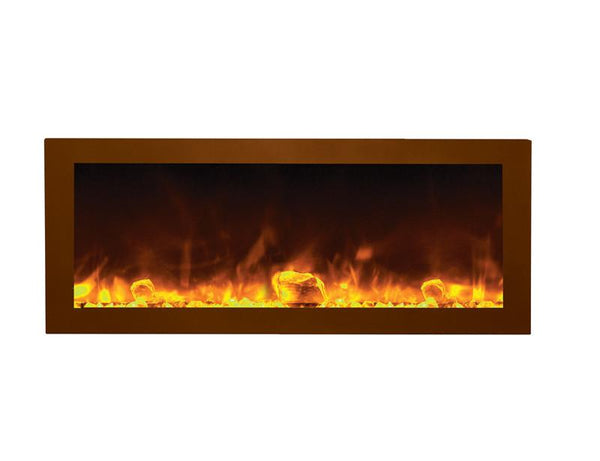"Amantii 40"" Deep Indoor or Outdoor Electric Built-in only w/ black steel surround"