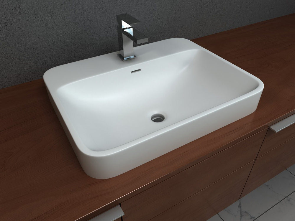 Cantrio Semi-recessed Countertop Sink Solid Surface Series Cantrio