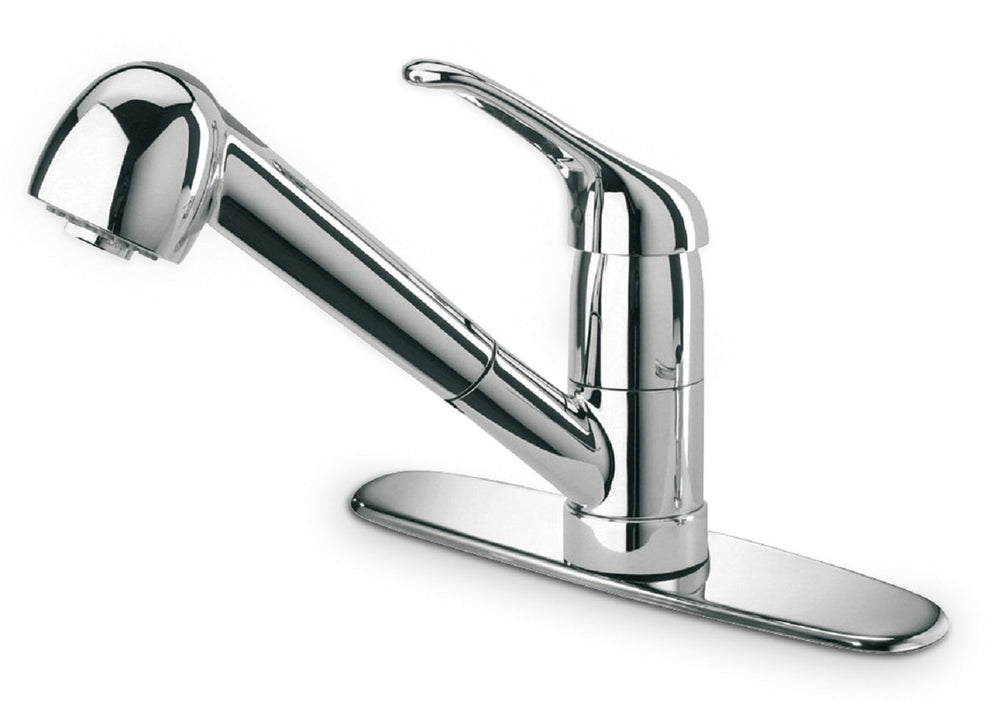 Latoscana Single Handle Pull-Out Spray Kitchen Faucet In Chrome Kitchen Faucet Latoscana