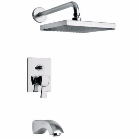 Latoscana Lady Pressure Balance Valve Tub And Shower Set In Chrome bathtub and showerhead faucet systems Latoscana