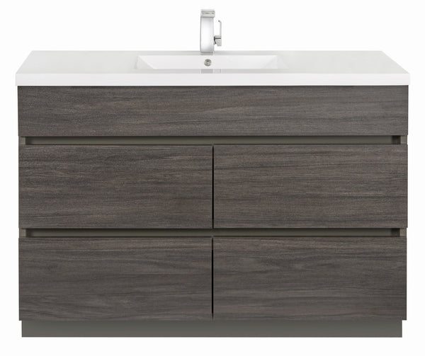 Karoo Ash 48 Contemporary Handless Vanity 4 Drawer With