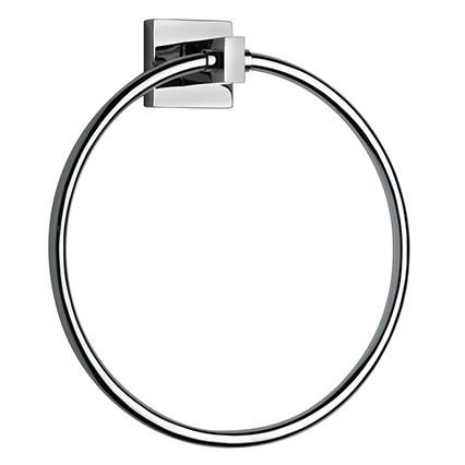 Latoscana Square Towel Ring In A Chrome Finish towel rings Latoscana