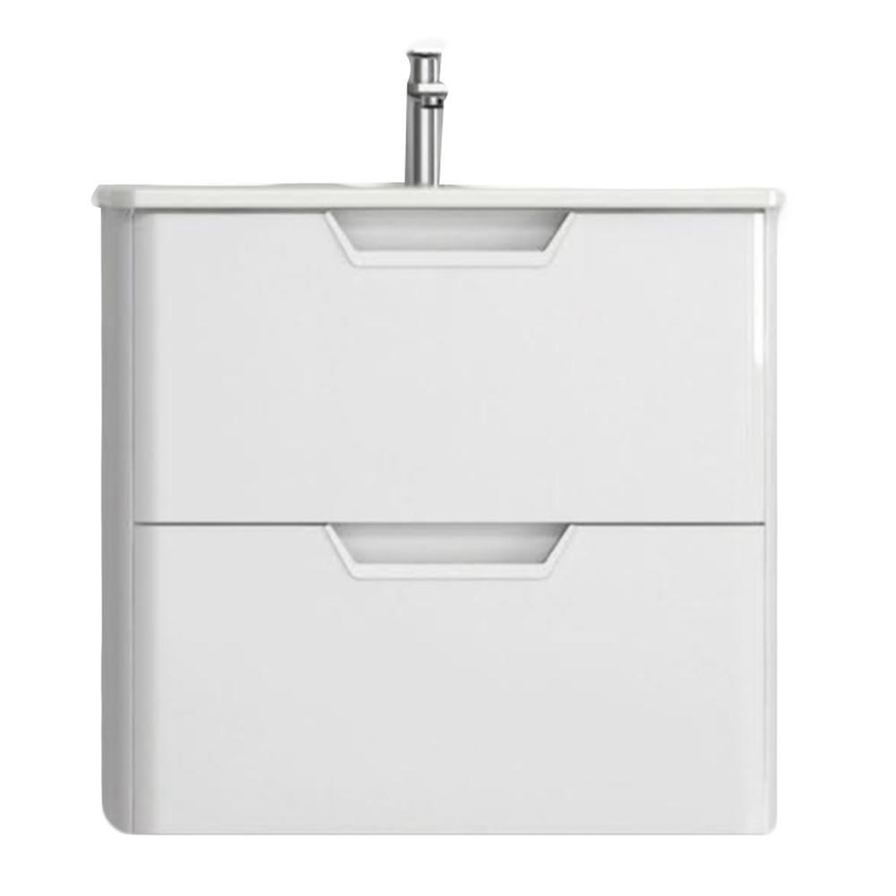 Eviva Hayat 24″ Modern Wallmount Bathroom Vanity with White Integrated Porcelain Sink Vanity Eviva White