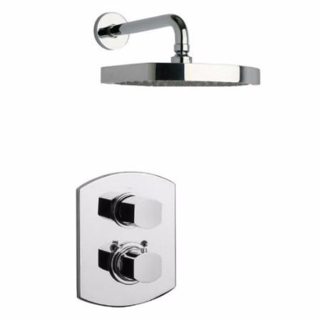 Latoscana Novello Thermostatic Valve Shower System Option 1 In Brushed Nickel bathtub and showerhead faucet systems Latoscana
