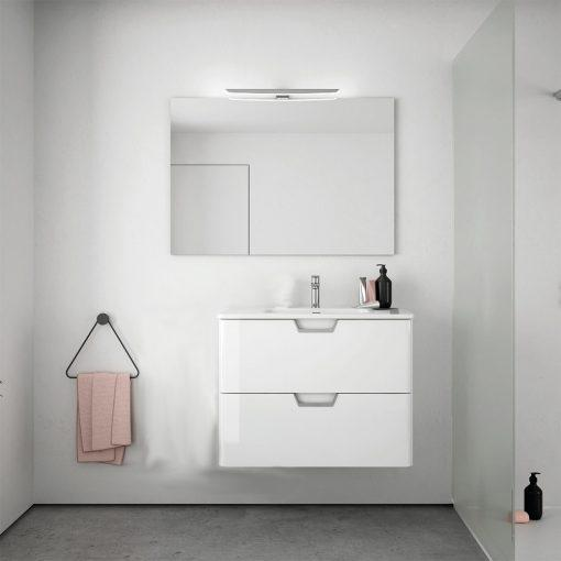Eviva Hayat 24″ Modern Wallmount Bathroom Vanity with White Integrated Porcelain Sink Vanity Eviva