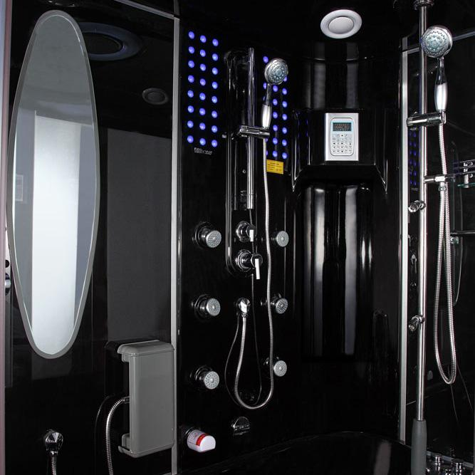Maya Bath Siena-Black-Left Steam Shower Steam Shower Maya Bath