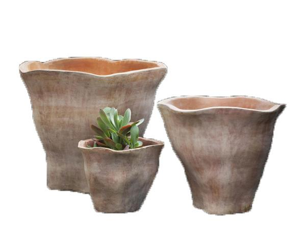 Campania International Terra Cotta Foxglove Short Planter Urn/Planter Campania International