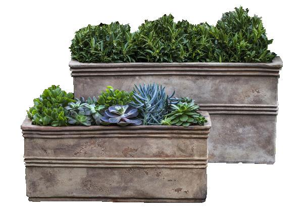 Campania International Terra Cotta Antico Rectangular Planter Urn/Planter Campania International