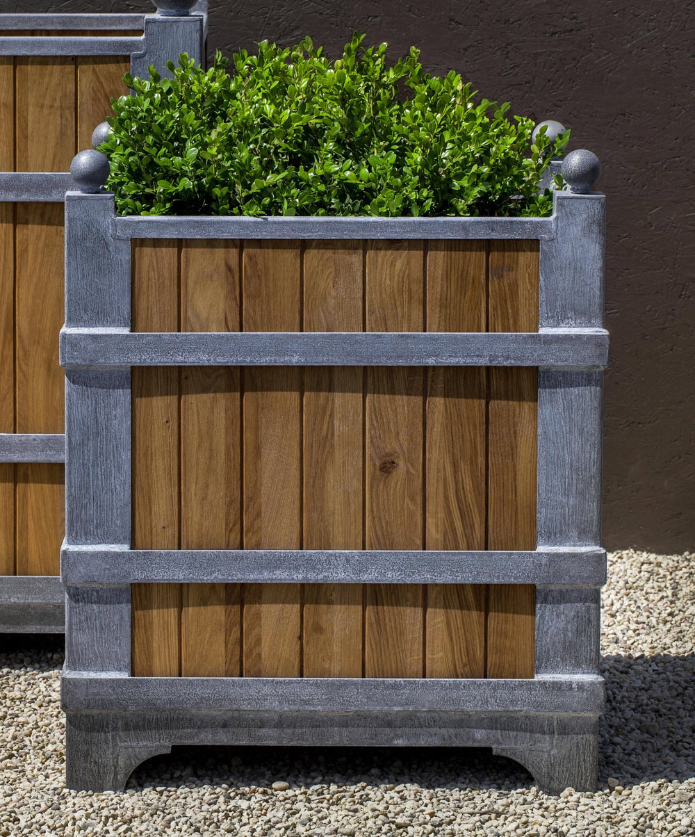 Campania International Zinc coated Steel with Oak Manoir Oak Planter Urn/Planter Campania International