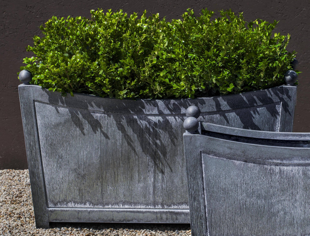 Campania International Zinc coated Steel Loire Rectangle Lg planter Urn/Planter Campania International