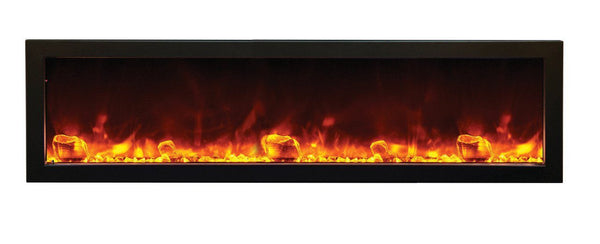 "Amantii 60""Slim Indoor or Outdoor Electric Built-in only w/black steel surround"