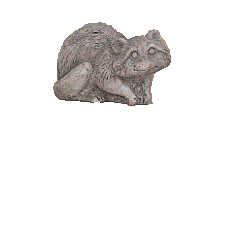 Baby Squirrel Up and Down Cast Stone Outdoor Asian Collection Statues Tuscan