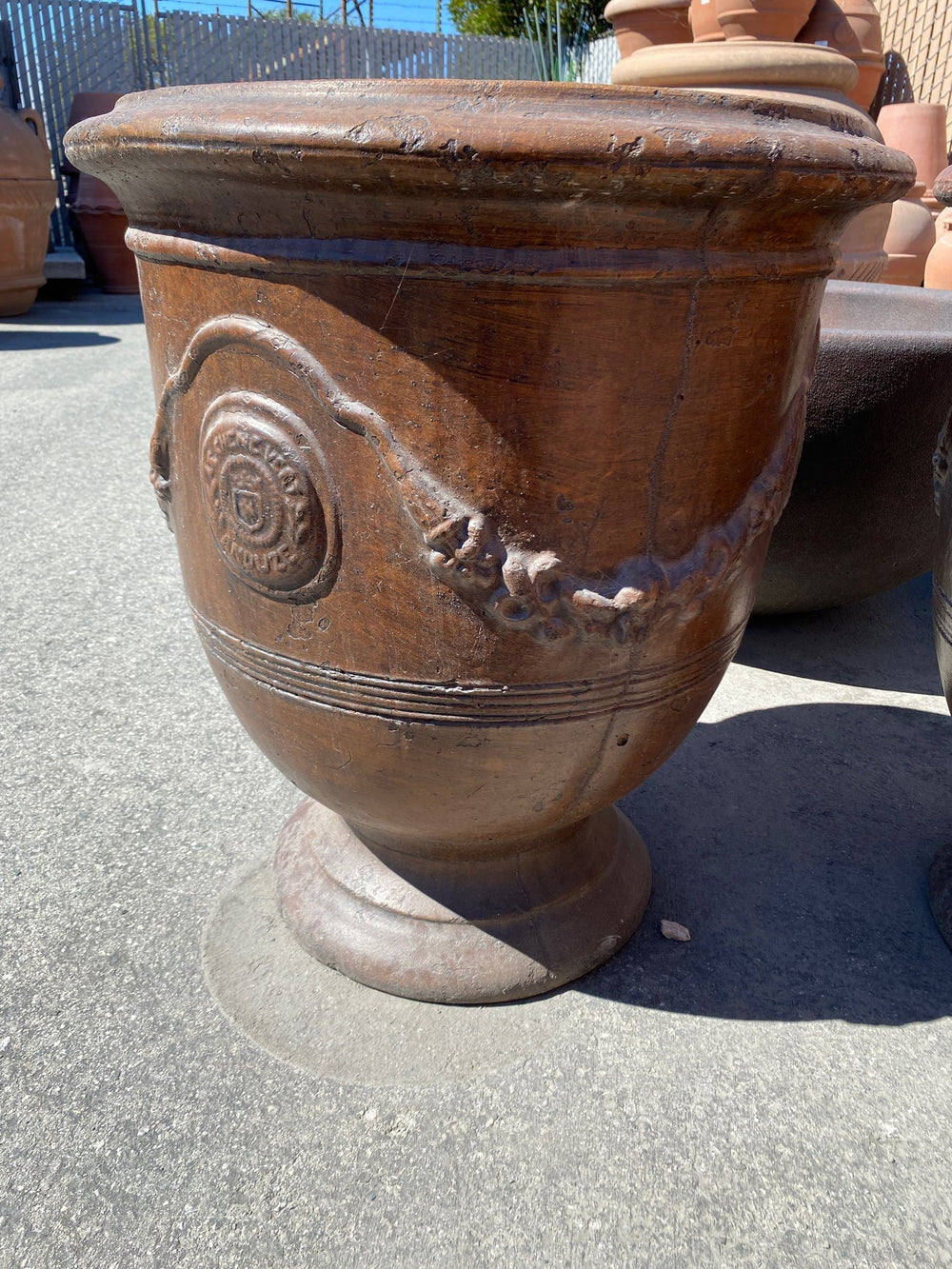 Anduze Pot Small Outdoor Cast Stone Planter Planter Tuscan