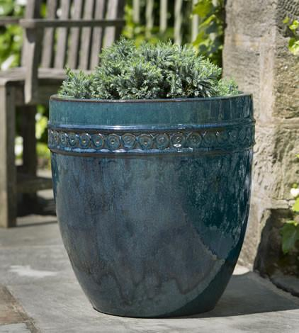 Campania International Glazed Terra cotta Tall Borsa Planter Urn/Planter Campania International