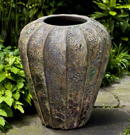 Campania International Glazed Terra cotta Balareas Jar Urn/Planter Campania International