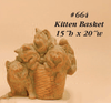 Kitten Basket Cast Stone Outdoor Asian Collection Statues Tuscan
