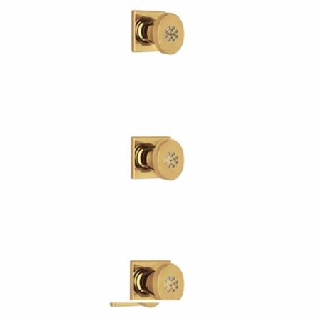 Latoscana Lady 3 Body Jets In Matt Gold bathtub and showerhead faucet systems Latoscana