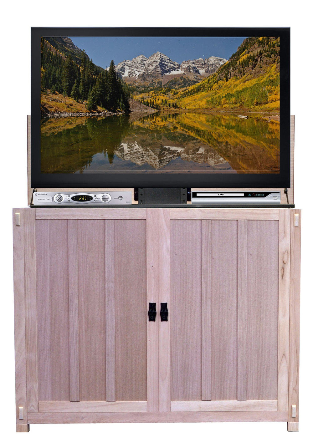 "Touchstone Elevate - Oak Unfinished Lift Cabinets For Up To 42"" Flat Screen Tv'S Tv Lift Cabinets Touchstone"