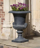 Campania International Cast Iron Morgan Scroll Cast Iron Pedestal  Urn