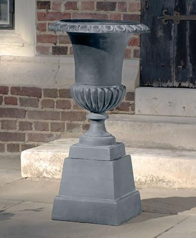 Campania International Cast Iron Prestwick Cast Iron Pedestal Ped Urn/Planter Campania International