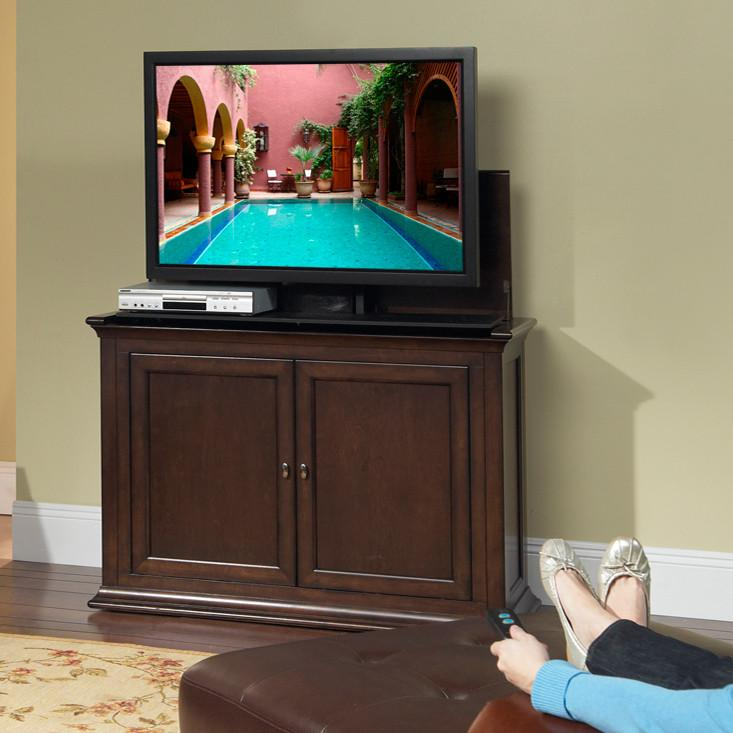 "Touchstone Harrison Tv Lift Cabinets For Up To 46"" Flat Screen Tv'S Tv Lift Cabinets Touchstone"