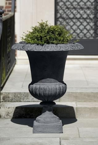 Campania International Cast Iron Large Wickford Cast Iron Pedestal Urn Urn/Planter Campania International
