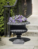 Campania International Cast Iron Glastonbury Cast Iron Pedestal Urn