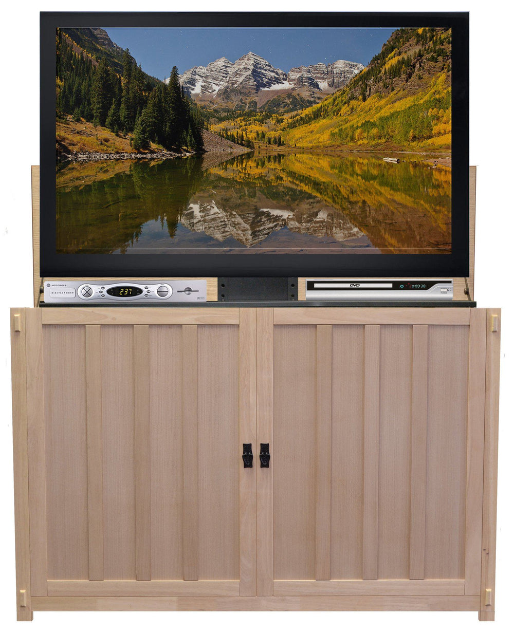 "Touchstone Grand Elevate - Unfinished Oak Lift Cabinets For Up To 60"" Flat Screen Tv'S Tv Lift Cabinets Touchstone"