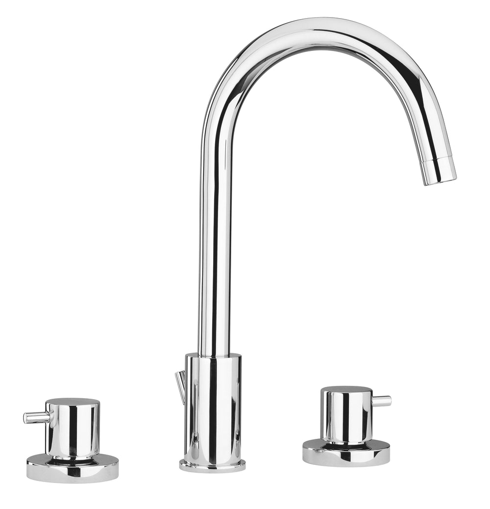 Latoscana Elba widespread lavatory faucet in a Chrome finish touch on bathroom sink faucets Latoscana