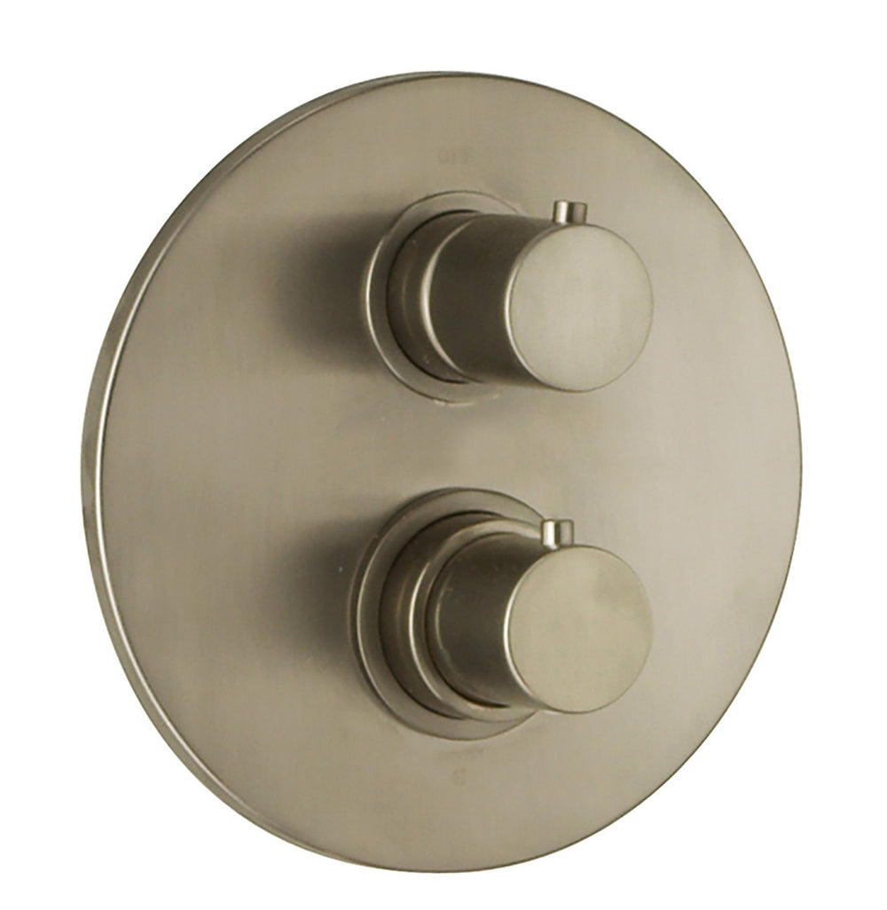 Latoscana Elba thermostatic valve with 3/4 Ceramic Disk In A Brushed Nickel Finish Shower Mixtures Latoscana