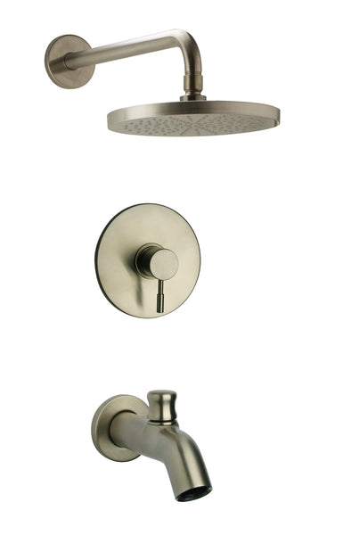 Latoscana  Elba Pressure Balance Valve Tub And Shower Set In A Brushed Nickel Finish