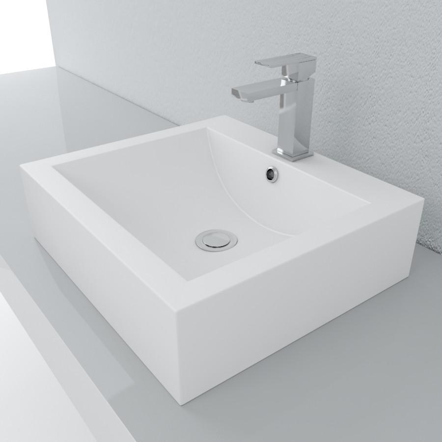 Cantrio Soild Surface vessel sink Solid Surface Series Cantrio