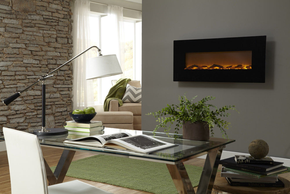 "Touchstone Onyx 50"" Wide Wall Mounted Electric Fireplace Electric Fireplace Touchstone"