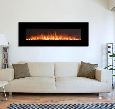 Touchstone Onyxxl 72 Wide Wall Mounted Electric Fireplace