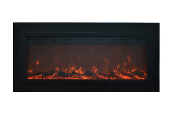 "Touchstone Sideline Steel 50"" Wide (Wall inset design) Wall Mounted Electric Fireplace"