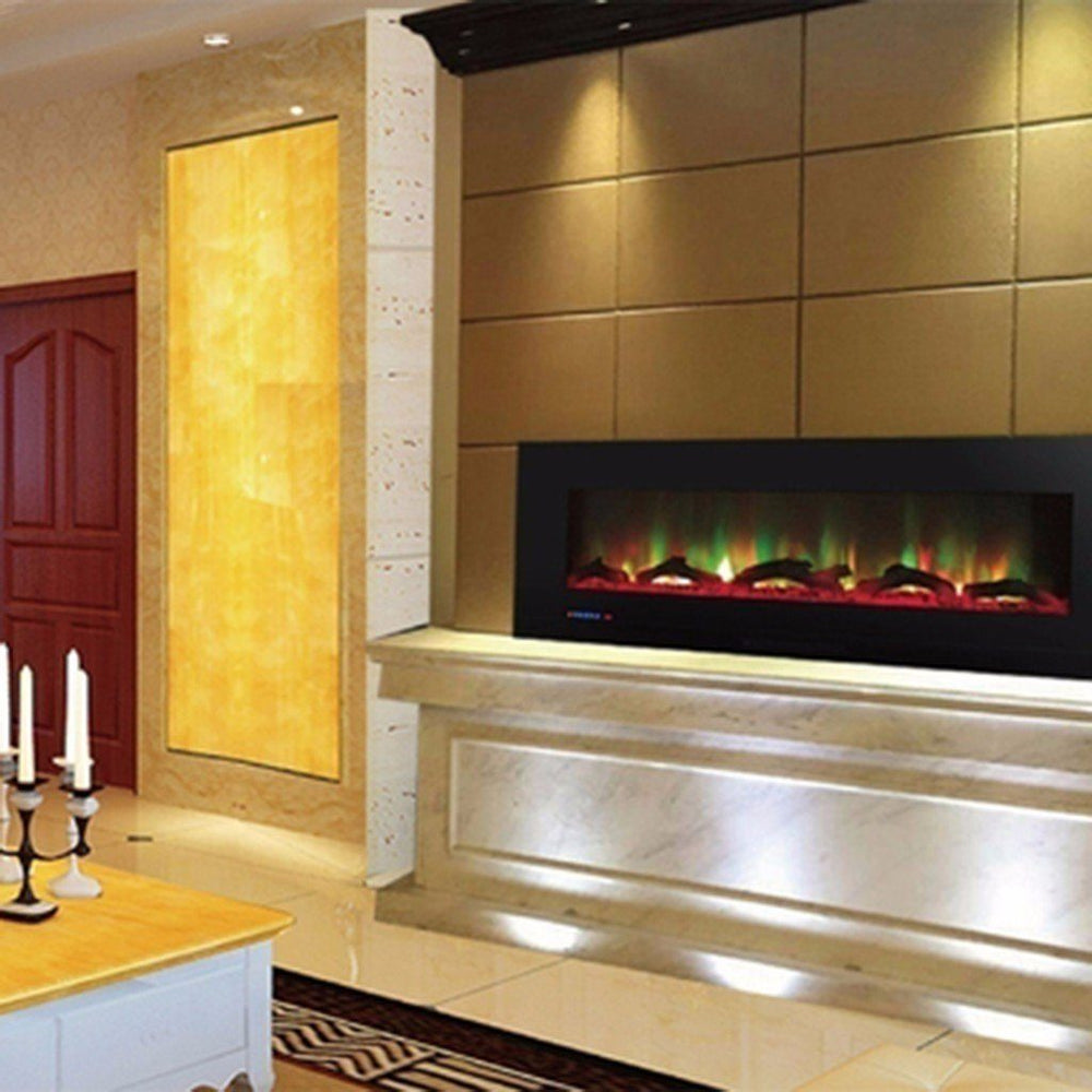 "Touchstone Sideline 10 Color 70"" Wall Mounted Electric Fireplace Electric Fireplace Touchstone"