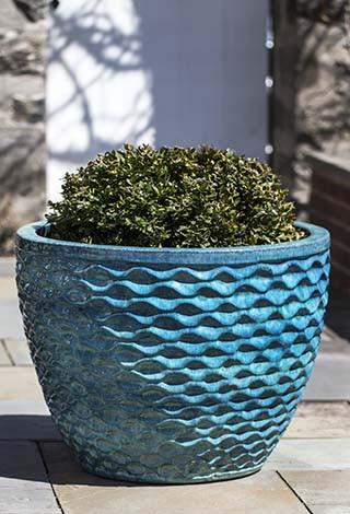 Campania International Glazed Terra cotta Honeycomb Planter Urn/Planter Campania International
