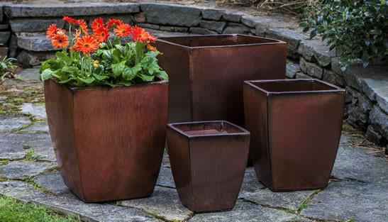 Campania International Glazed Terra cotta Blake Planter Urn/Planter Campania International